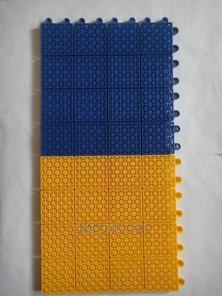 Пластиковое напольное покрытие для роллердрома