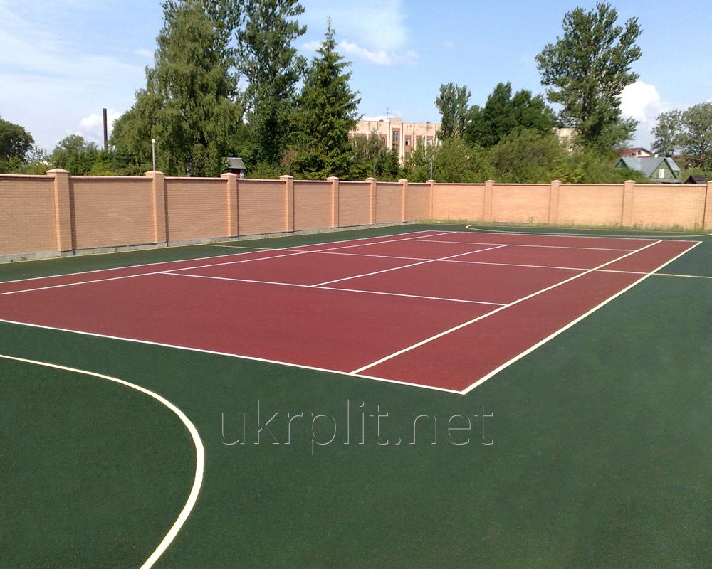 Покрытия резиновые из цветной крошки  для теннисного корта