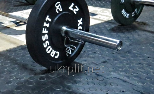 Резиновая плитка от УкрПлит  для тренажерных залов, кросфита