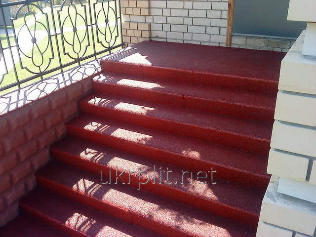 Buy Production of a tile for steps from a rubber crumb for giving
