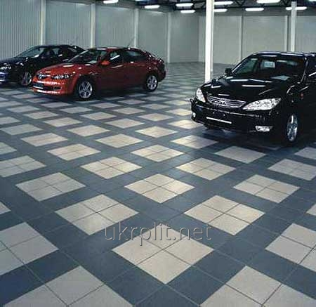Rubber tile for garage rooms and HUNDRED