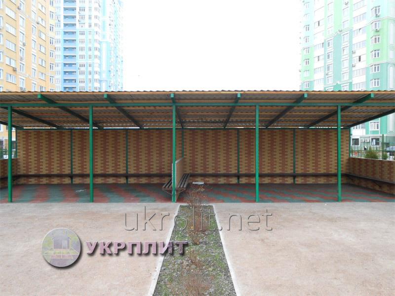 Резиновая плитка для детских, игровых, спортивных площадок