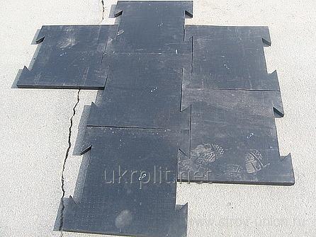 Резиновая плитка, пазл, соединение ласточкин хвост