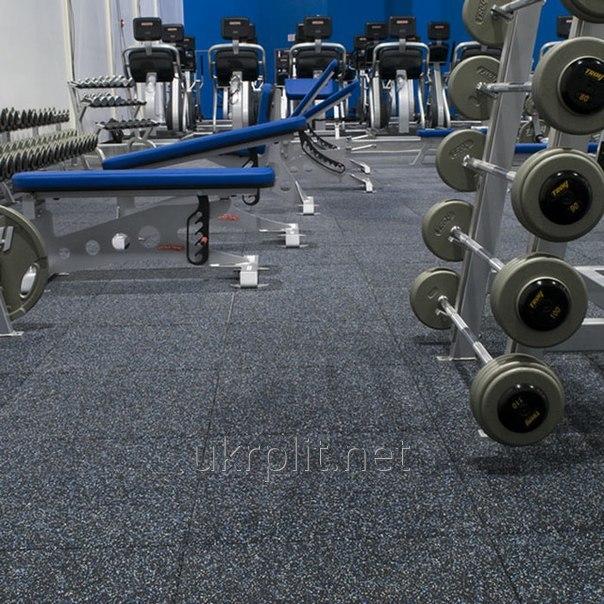 Резиновое напольное покрытие для тяжелой атлетики, кросфита