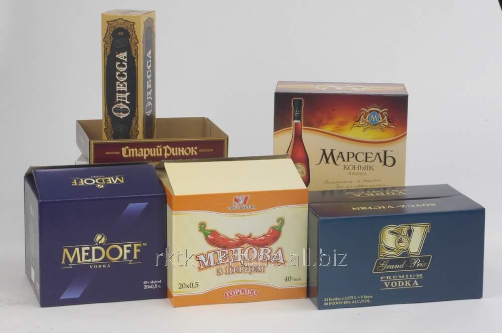 Фирменная упаковка для алкогольных напитков