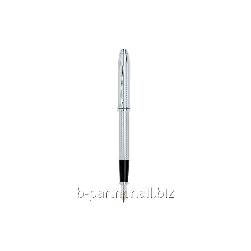 Ручка перьевая Townsend Platinum Plated FP F