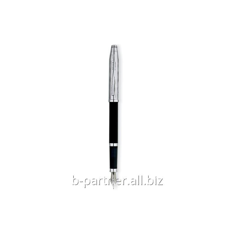 Ручка перьевая Century II Tr.Black Lacquer/Chrome FP F