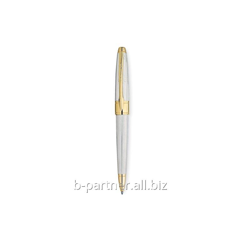 Ручка шариковая Apogee Executive Sterling Silver GT BP