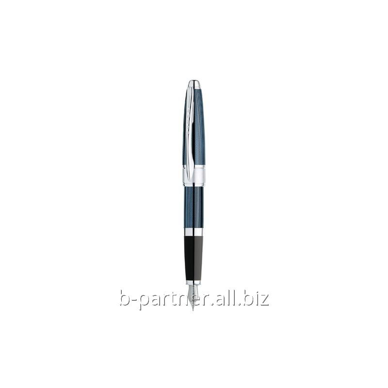 Ручка перьевая Apogee Frosty Steel Blue FP F