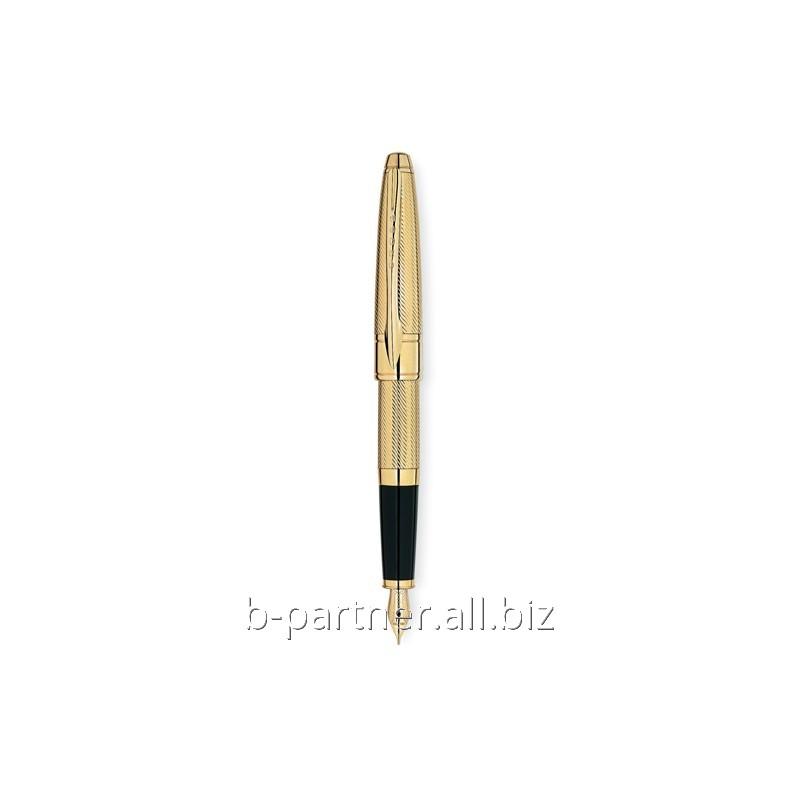 Ручка перьевая Apogee Executive 23K Heavy Gold Plate FP M