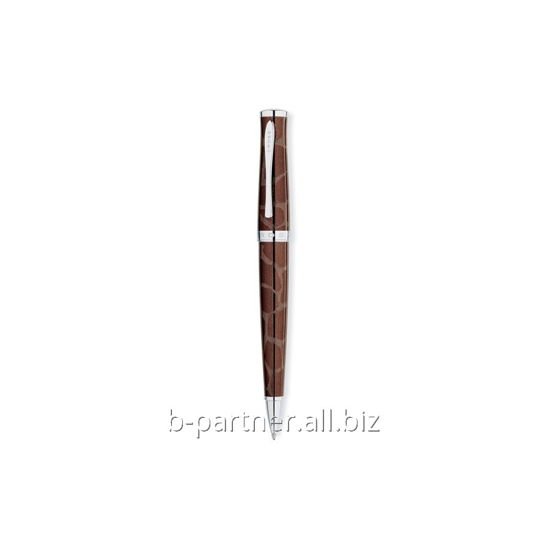 Ручка шариковая Sauvage Brown/Giraffe Pattern BP