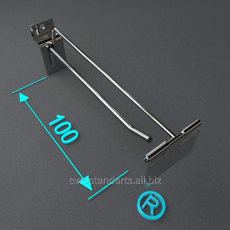 Крючки торговые 100 мм с ценникодержатлем
