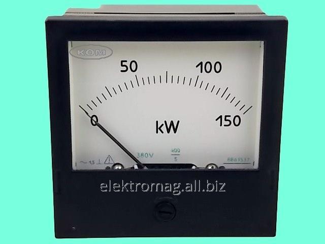 Купить Ваттметр Ц301 0-150 кВт, 380 В, 400/5, код товара 38570