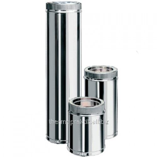 Купить Труба из нержавеющей стали с термоизоляцией оцинкованная ф250/320*1м