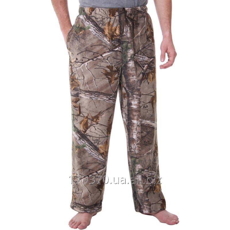 Штаны флисовые для охоты Realtree & Mossy Oak Men's Camo Microfleece Pant