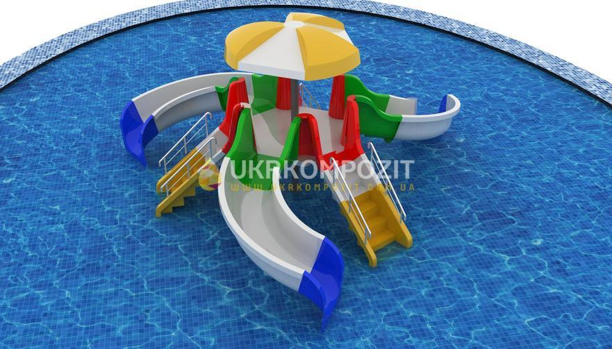 "Children's waterslide of Ukrkompozit ""Octopus"