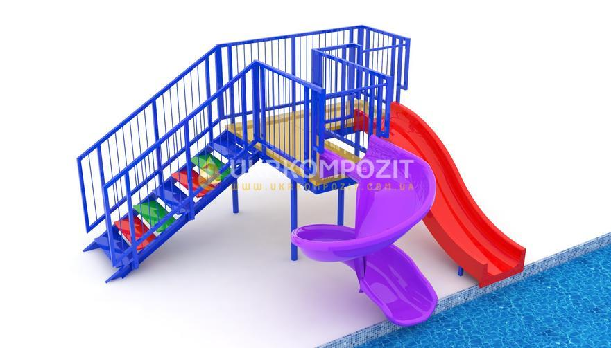 "Children's waterslide of Ukrkompozit ""Rainbow"