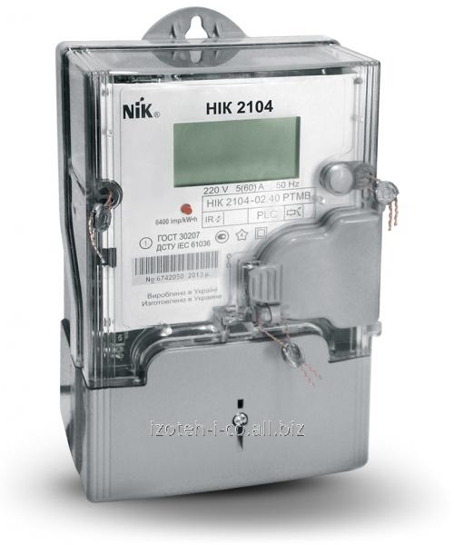 Многотарифный однофазный электронный счетчик электрической энергии NIK 2104