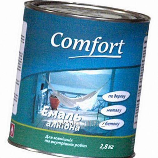 Купить Эмаль алкидная Comfort ПФ-115 2,8 кг коричневая