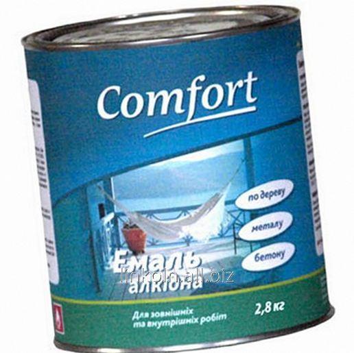 Купить Эмаль алкидная Comfort ПФ-115 50 кг вишневая
