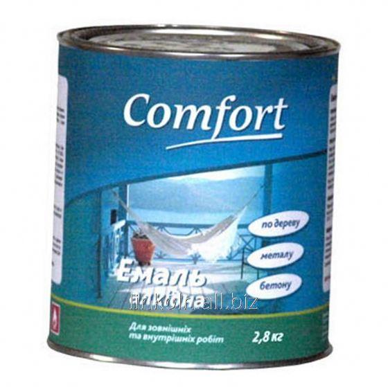 Купить Эмаль алкидная Comfort ПФ-115 0,9 кг черная