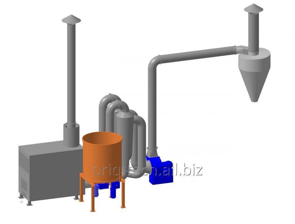 Купить Сушилка измельченной соломы САД-0.4-0.8 для изготовления топливных пеллет