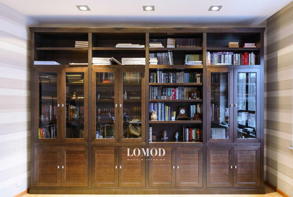 Шкаф книжный деревянный. Модель Профи. Артикул Pf 1.