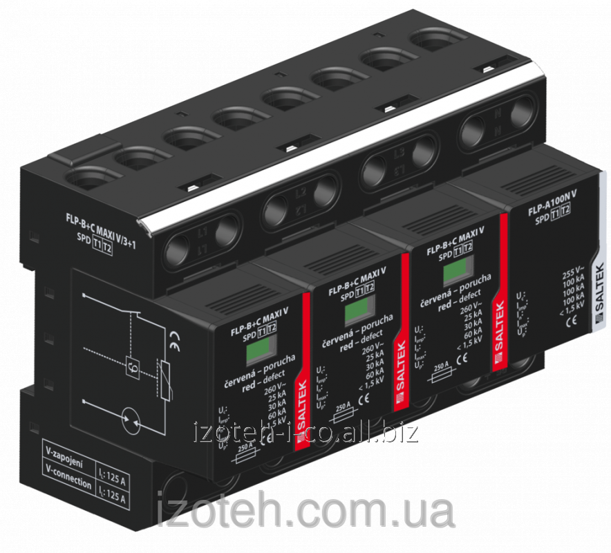 Buy The combined device of protection against pulse retension type and 1+2 FLP-B+C MAXIVS/3+1