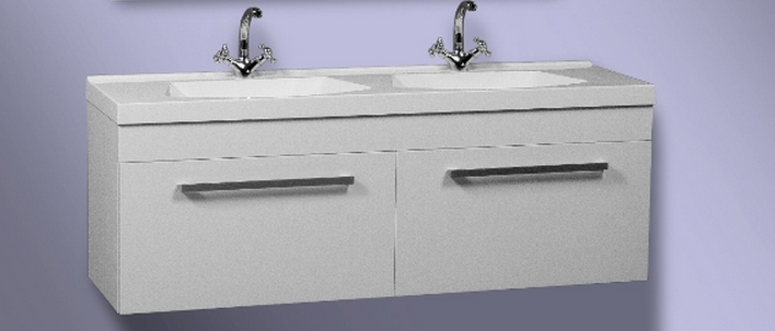 Buy Double curbstone for a bathroom with a white wash basin