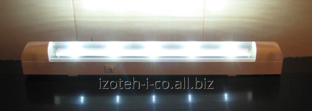 The lamp on LED-STREET-48 light-emitting diodes for economic, ancillary and workers of rooms