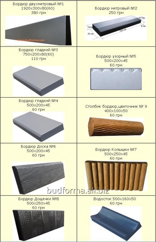 Buy Forms for manufacture curbs