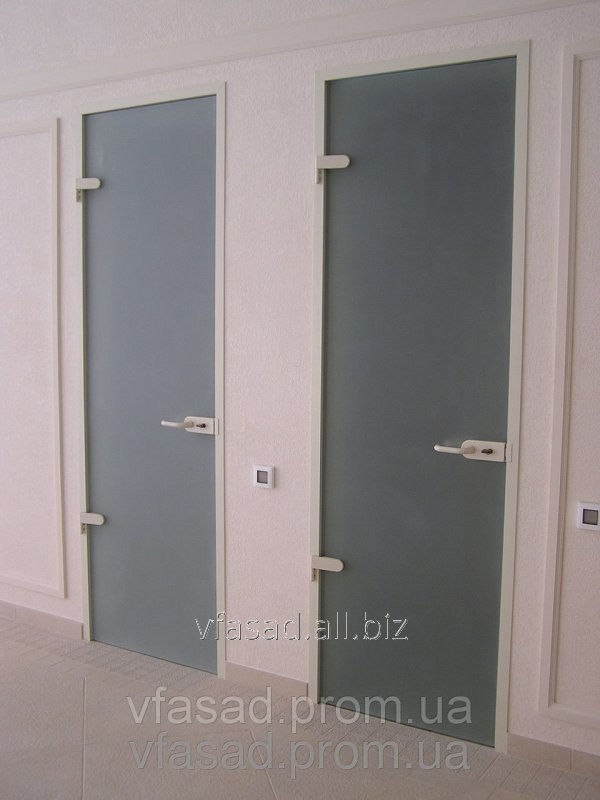 Buy Glass door Transparent with an opaque pattern Different colors