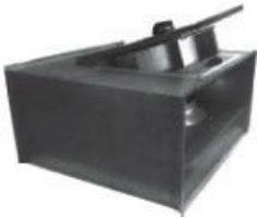 Прямоугольный канальный вентилятор со свободным рабочим колесом