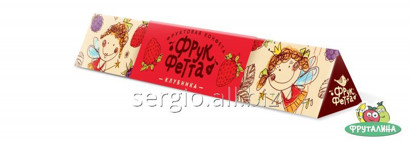 Buy Candy bright in gift box, Strawberry (Frukfetta), 20 g