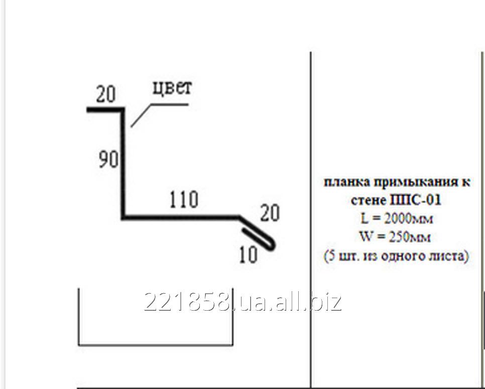 Планка примыкания к стене ППС - 01