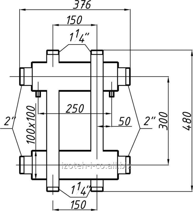 Коллектор котельной СК-173.150 с выходом вверх и вниз