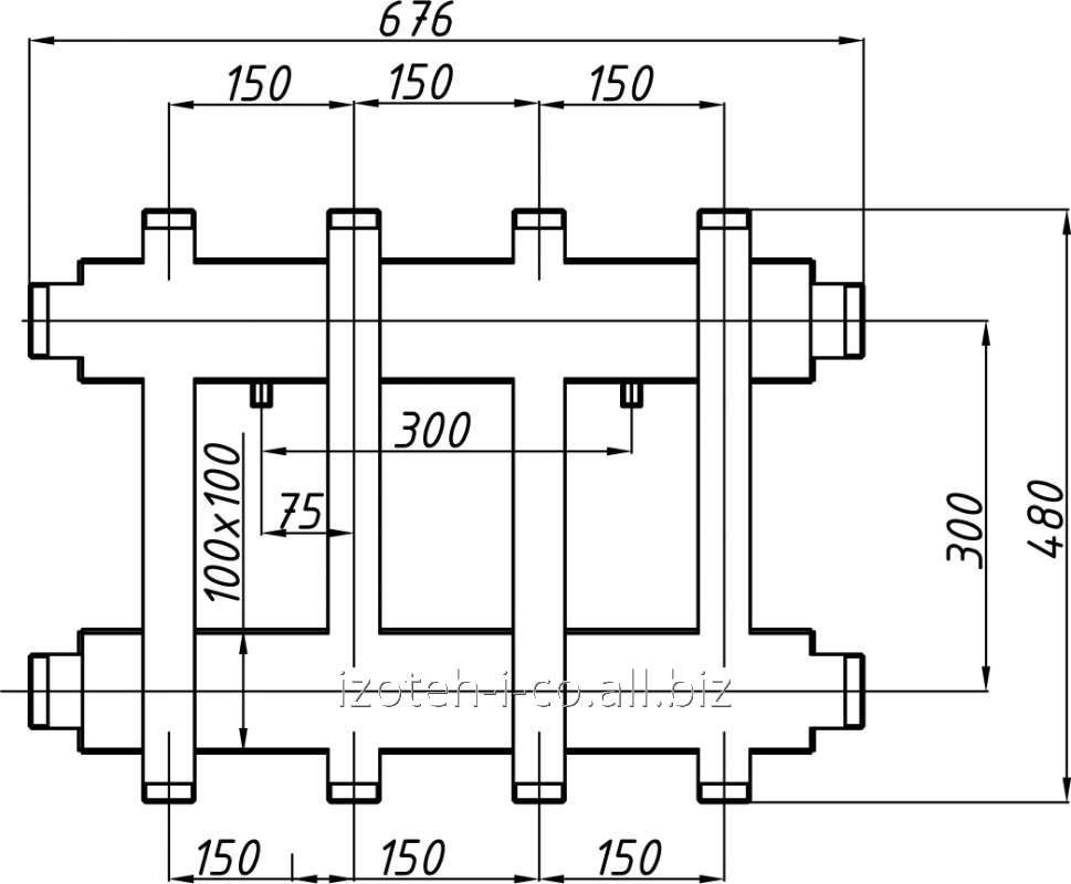 Коллектор котельной СК-273.150 с выходом вверх и вниз