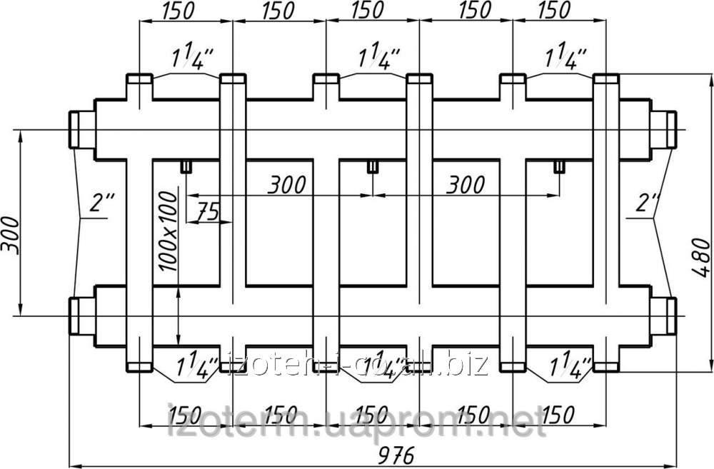 Коллектор котельной СК-373.150 с выходом вверх и вниз