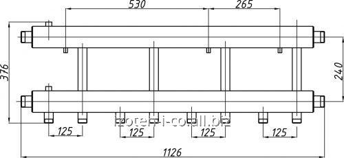 Коллектор для котельной СК-462.125