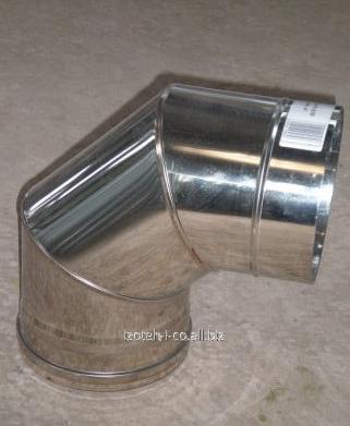 Колено 90° для дымоходов из нержавеющей стали