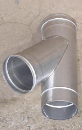 Тройник 45° для дымоходов из нержавеющей стали