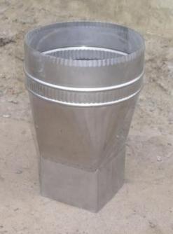 Переходник для дымоходных труб из нержавеющей стали