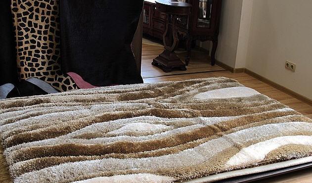 Купить Пушистый ковер в гостиную, 3D волны