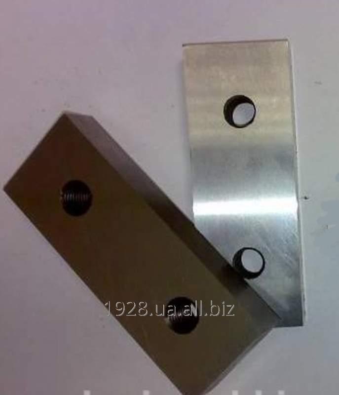 Купить Нож 160х50х42,5 с 2 отверстиями М12,5 расстояние между центрами отверстий 80мм