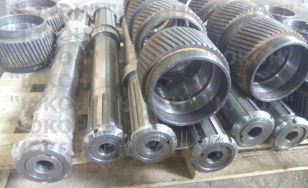 Spare parts OGM 1.5 and OGM 0.8. Rollers, shaft, feedwells, bearings, etc.