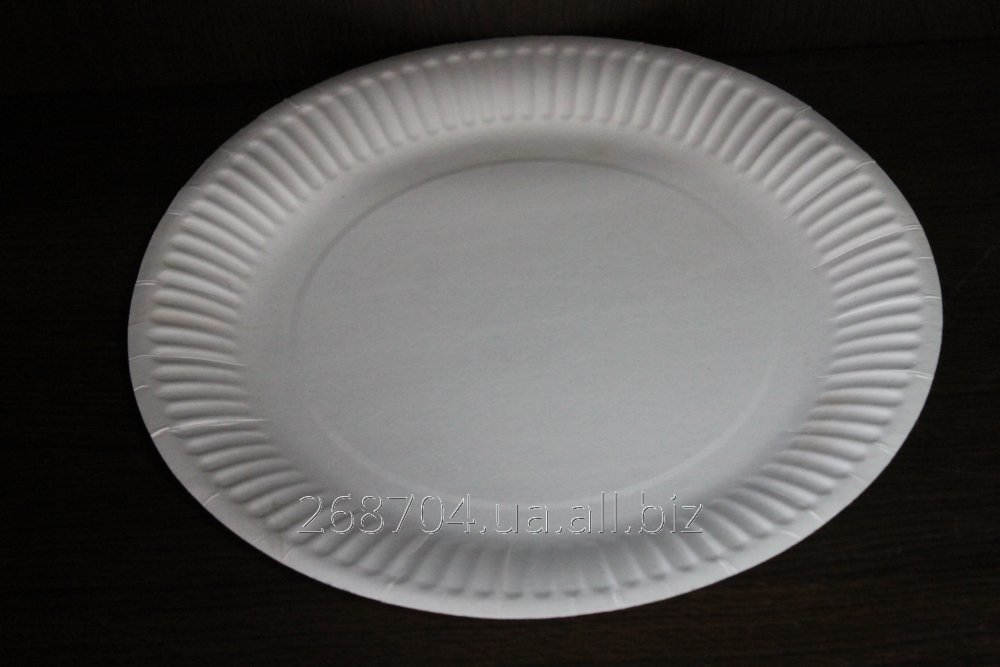 Buy Plate cardboard disposable laminated