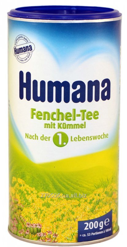 Soluble Humana tea with fennel and caraway seeds/Humana