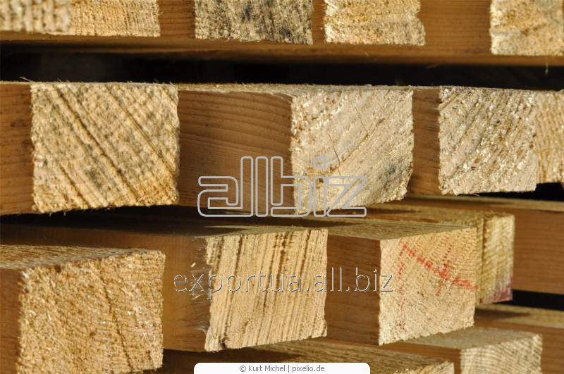 Пиломатериалы обрезные. Сосна или ель. Размер 80х80х(4000, 4500, 6000), на экспорт