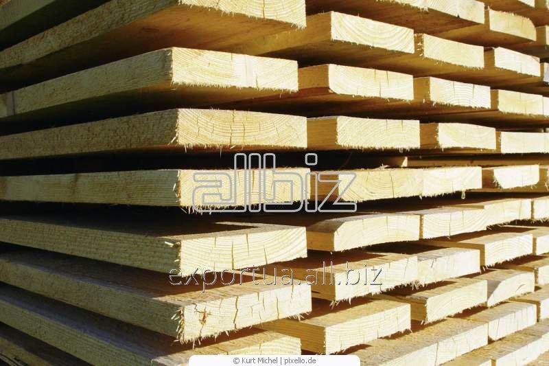 Лесоматериалы. Сосна или ель, доска естественной влажности. Размер 40х120х(4000, 4500, 6000), на экспорт