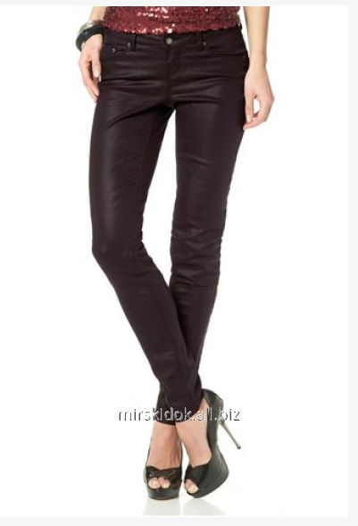 Buy Jeans female leather LAURA SCOTT Germany. Jeans with imitation of skin or new jeans trend